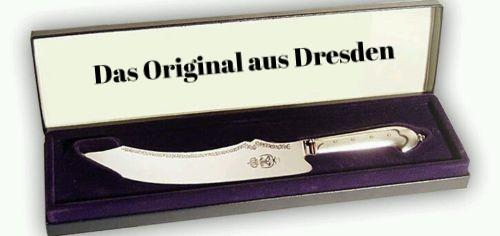 Dresdner Stollenmesser versilbert