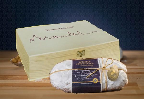 Original-Dresdner-Christstollen® 1 kg Premium mit Banderole