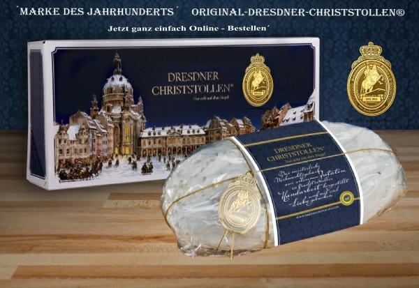 Original-Dresdner-Christstollen® 2 kg Premiumstollen mit Banderole